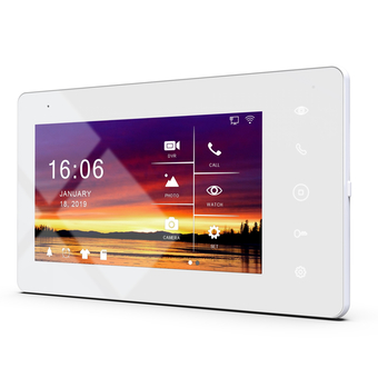 Монитор видеодомофона <br> JVS SKALLY HD WiFi WHITE