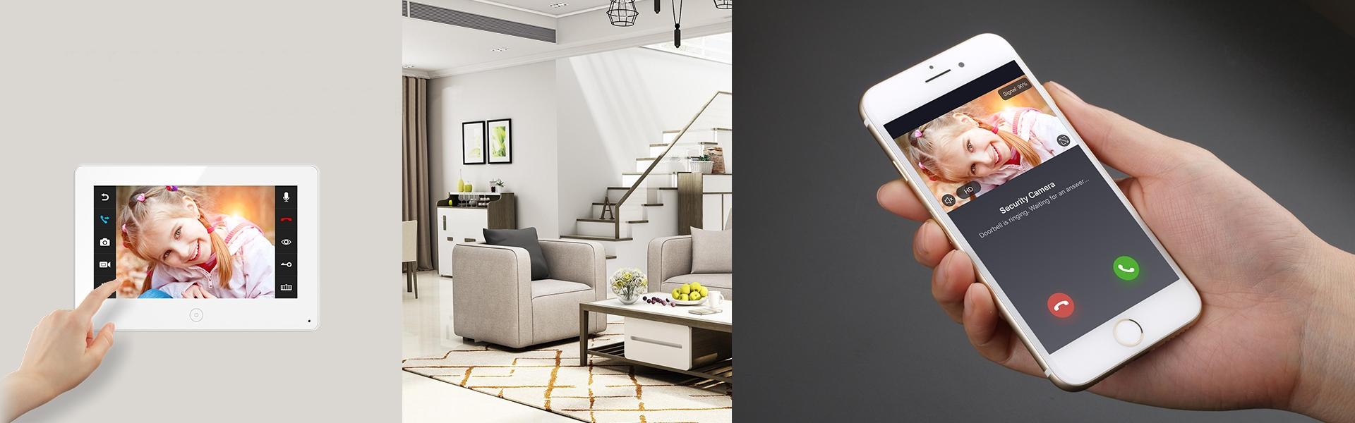 Видеодомофоны JVS со встроенным Wi-Fi модулем и записью происходящего по движению с возможностью доступа в архив записей с приложения.